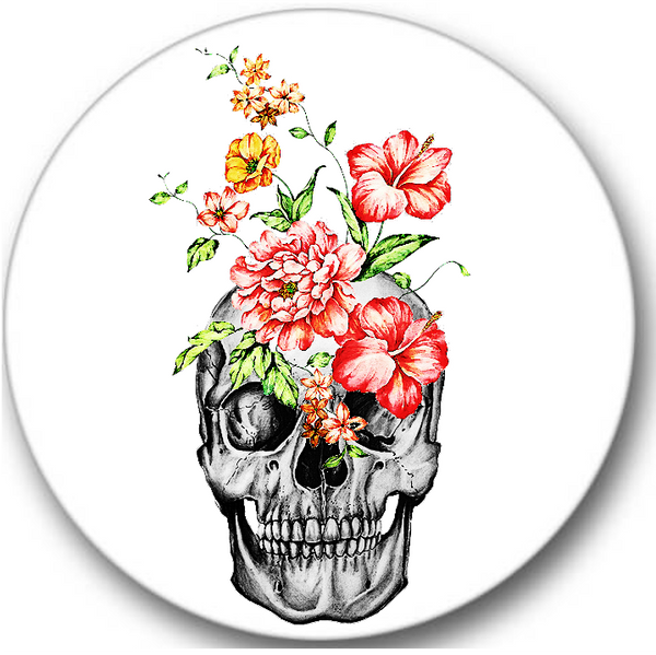 Skull and Flowers Sticker Seals No.234, gothic