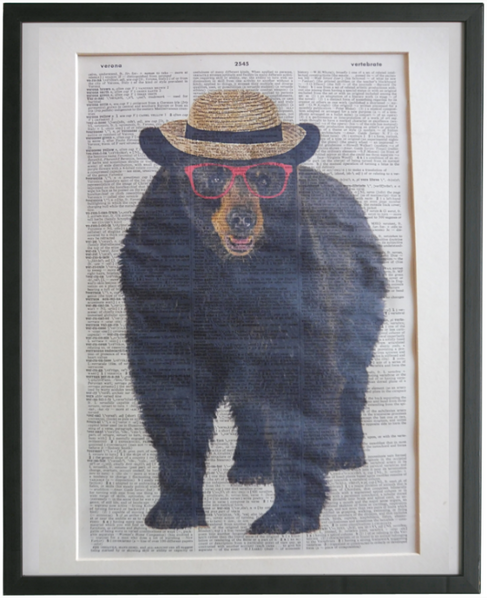 Sloth Bear Wall Print No.94, animals