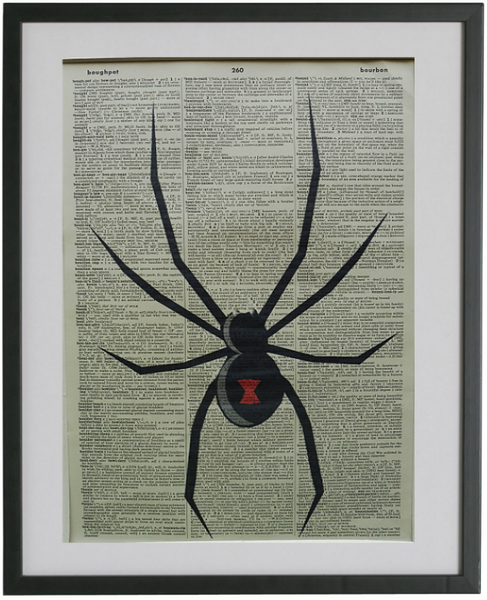 Spider Print No.290, botanical