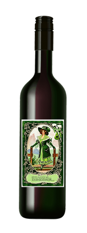 St. Patrick's Day Green Lady #2 Wine Label No.994