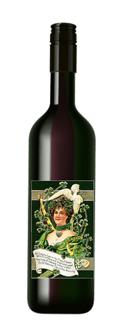St. Patrick's Day Green Lady #1 Wine Label No.993