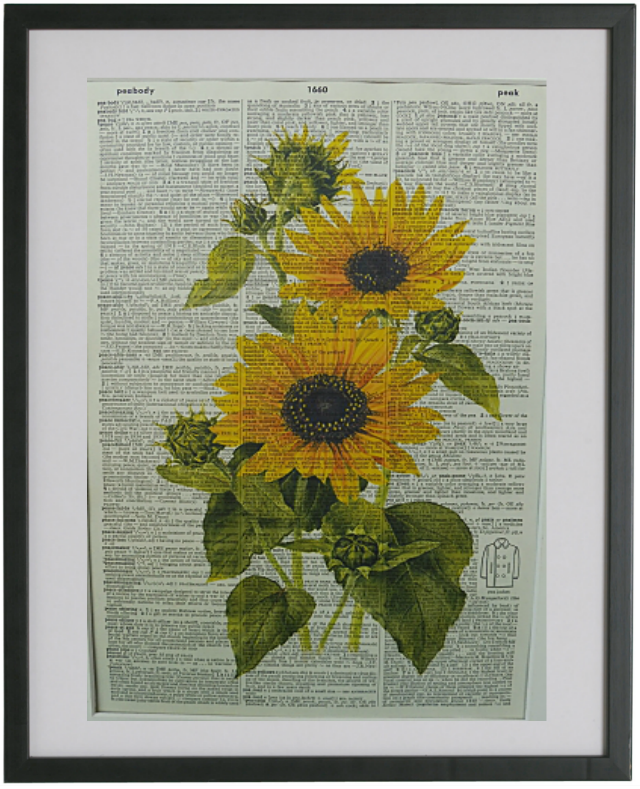 Sunflower Print No.50, botanical