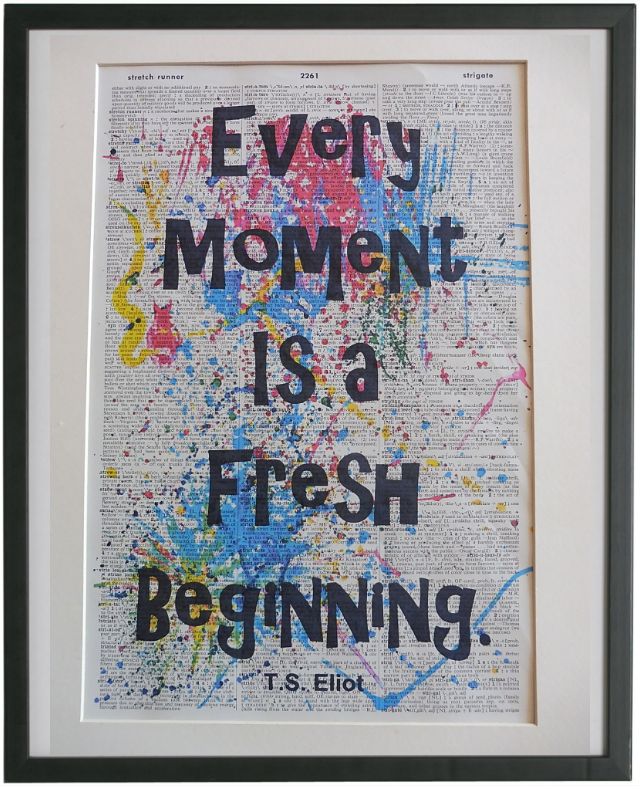 TS Eliot Inspirational Quote Wall Art No.876