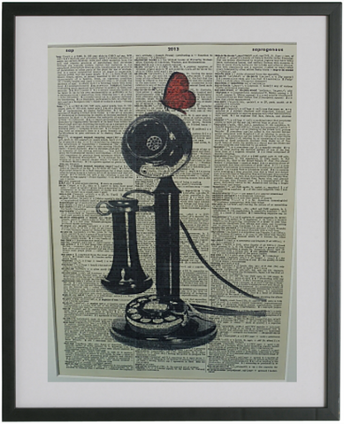 Telephone Print No.109, vintage equipment
