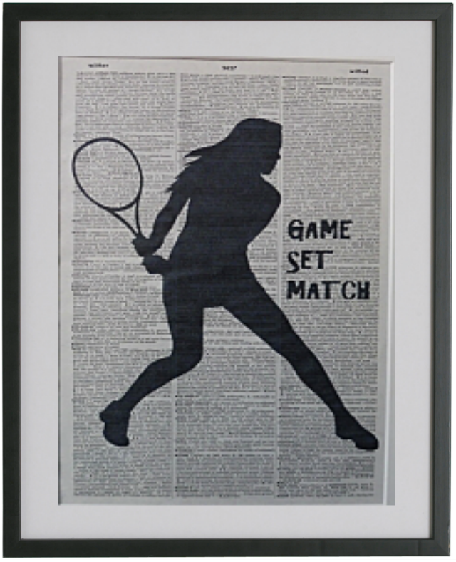 Tennis Player Female Wall Art No.70