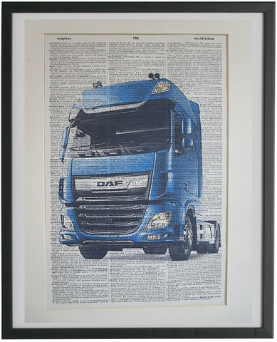 DAF Truck Wall Art No.981