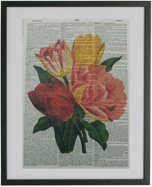 Tulip Flowers Print No.231, botanical