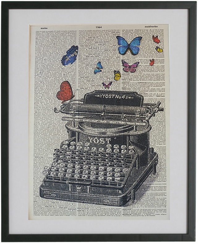 Typewriter Print No.116, vintage equipment
