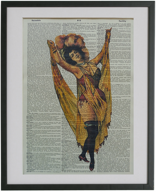 Burlesque Dancer Wall Print No.488