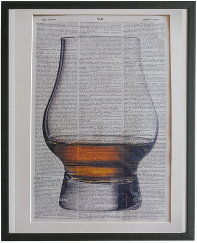 Whisky Glass Print No.946