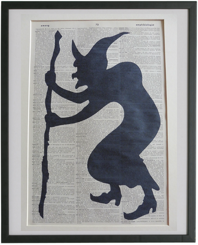 Witch Silhouette Print No.939