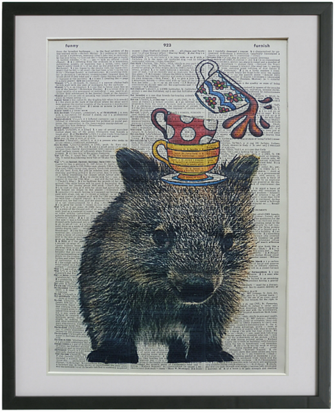 Wombat Print No.151, animals