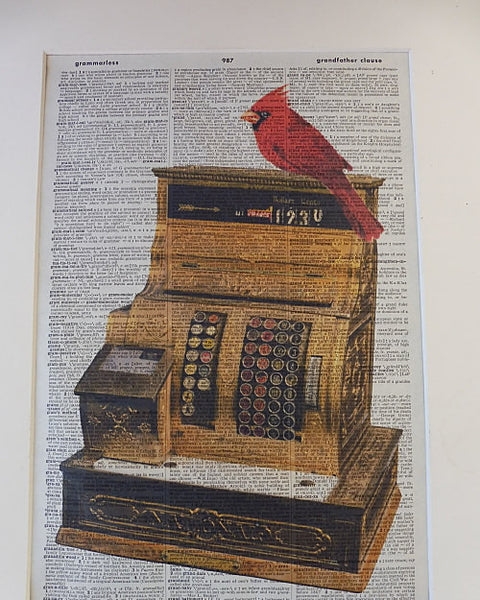 Cash Register Print No.80, vintage equipment