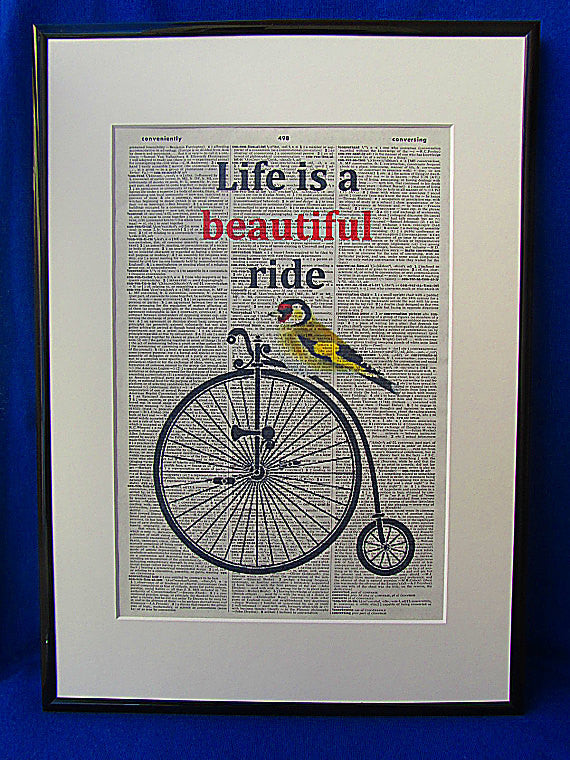 Life is a Beautiful Ride Print No.10, inspirational quote