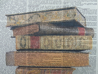 Book Stack Print No.115, miscellaneous