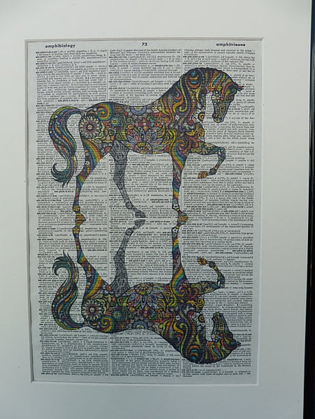 Horse Print No.242, animals