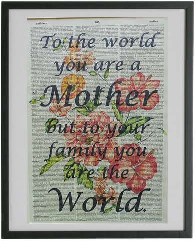Mother Quote Print No.305, inspirational quote prints