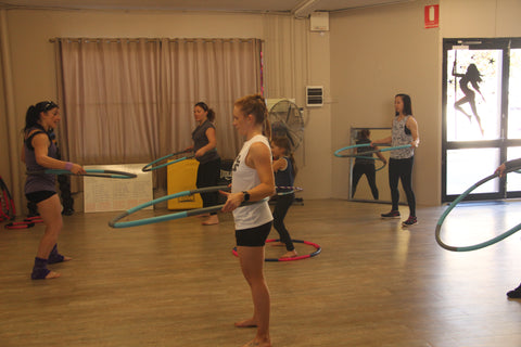Flying High Aerial Arts hula hoops class