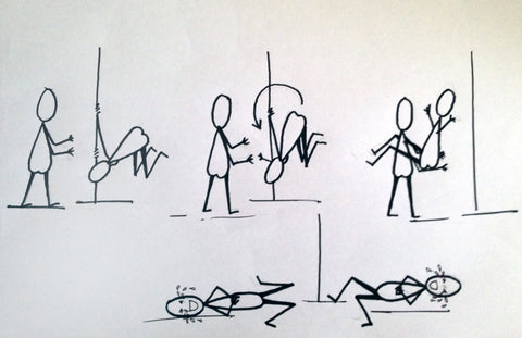 pole dancing stick figures