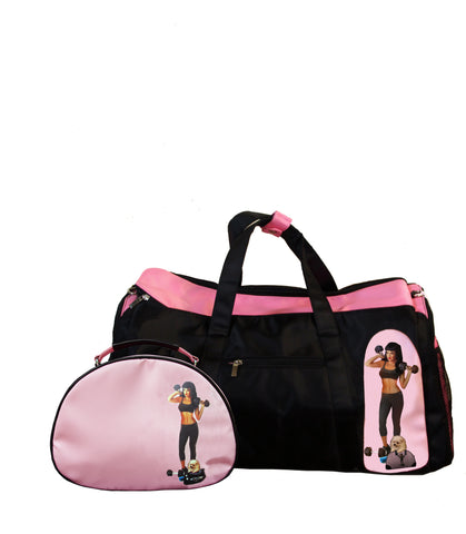 Jamilla Gym Bag + Lou Cosmetic Bag Set