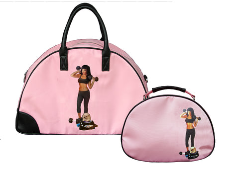 Kate Gym Bag + Lou Cosmetic Bag Set