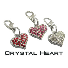 GoDazzler Crystal Heart Charms