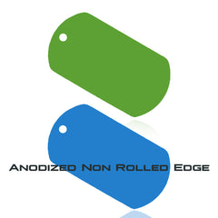 Anodized Non Rolled Edge Dog Tags