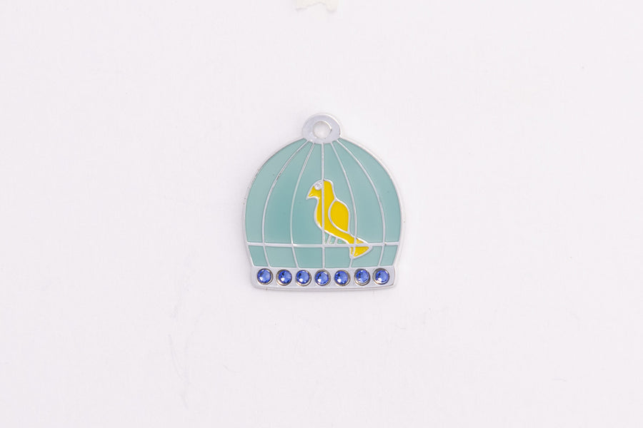 GS114 Swarovski Bird Cage Tag