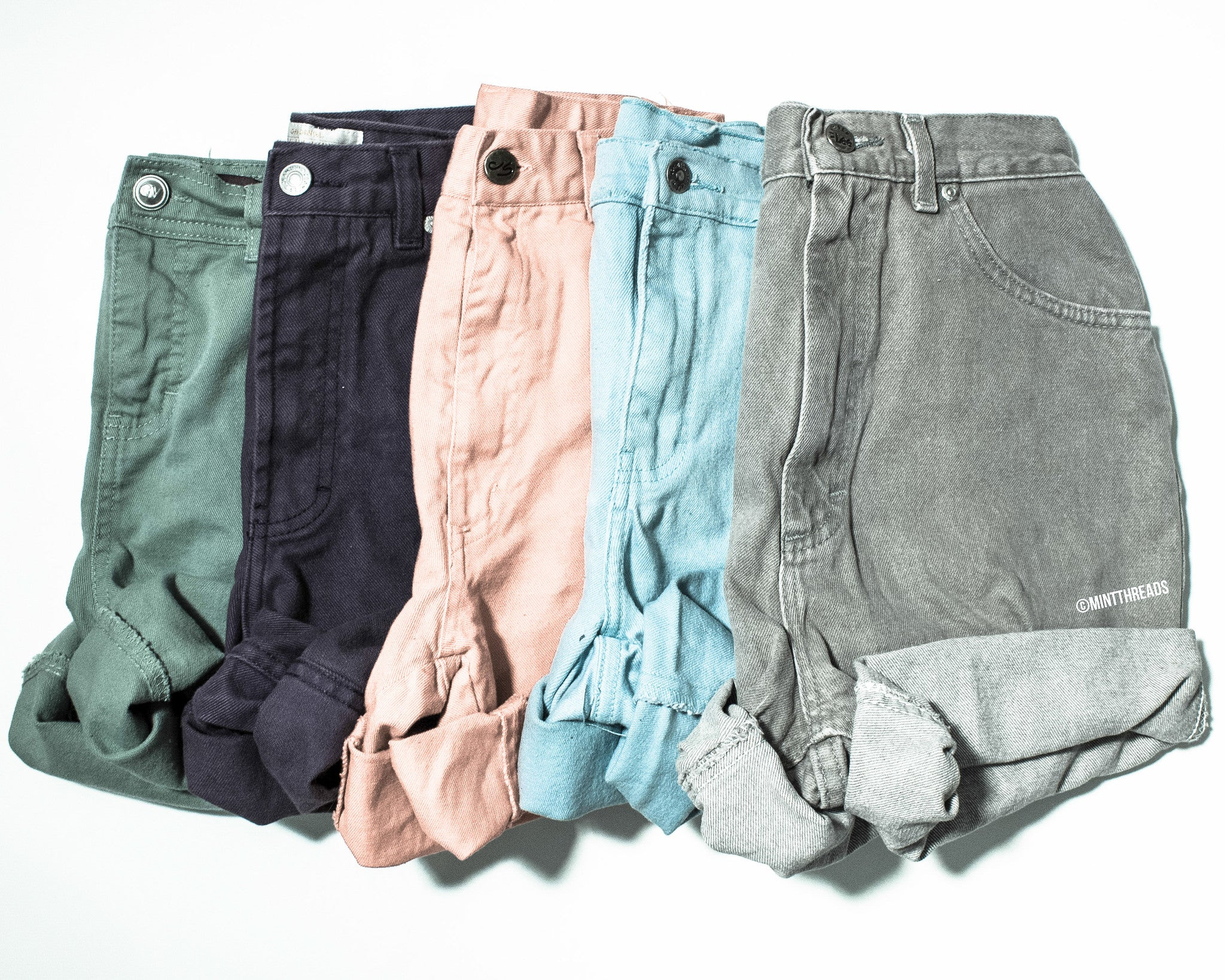 ALL SIZES Vintage Mystery Colored High Waisted Denim Shorts
