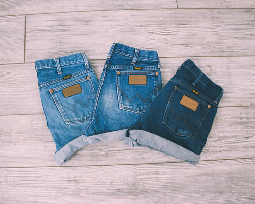 "ALL SIZES Vintage ""APOLLO"" High Waisted WRANGLER Denim Shorts"