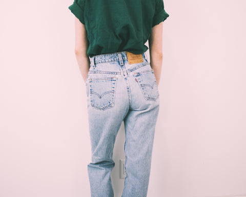 Vintage (LARGE) Levis 505 High Waisted Denim Jeans