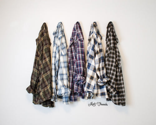 Mystery Vintage Oversized Flannel Shirts - Mint Threads