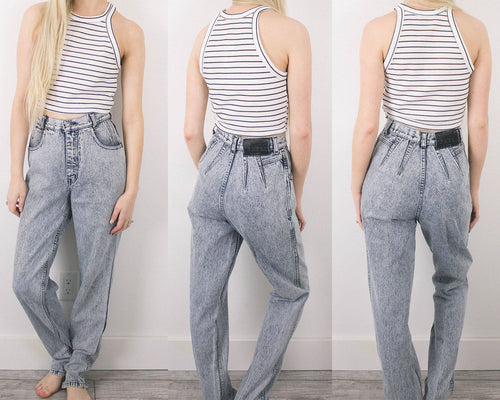 Vintage 24/25 Acid Wash High Waisted Jeans