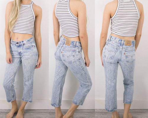 Vintage 24/25 Acid Wash Levis High Waisted Jeans