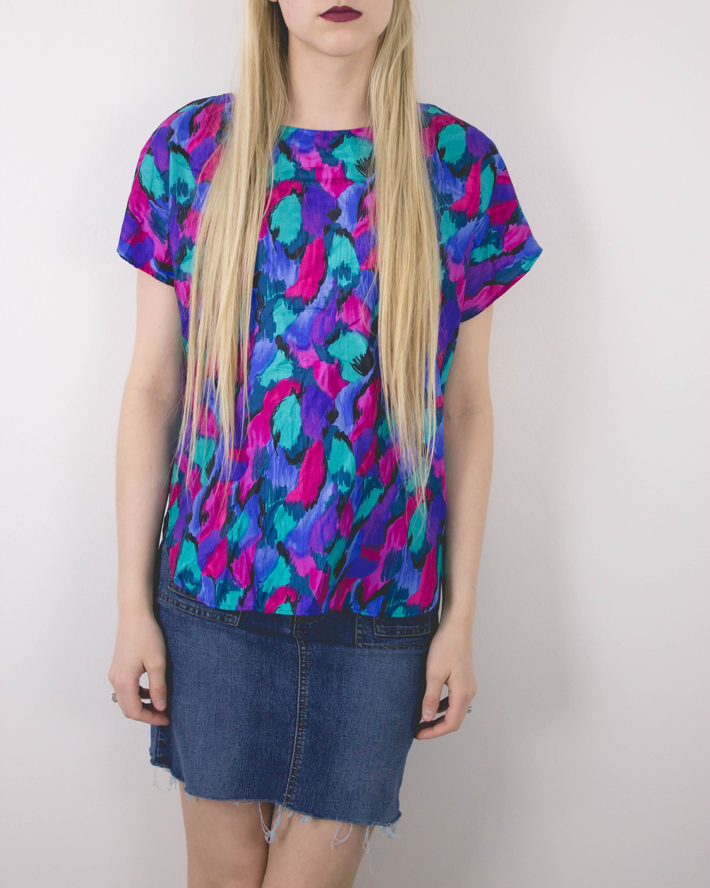 Vintage Abstract Boxy Blouse