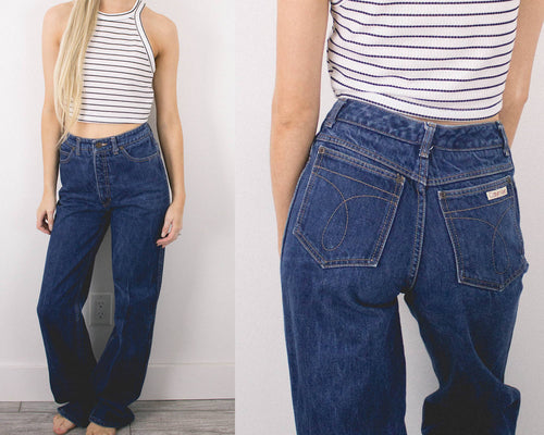 Vintage 26/27 Calvin Klein Bell Bottoms High Waisted Jeans