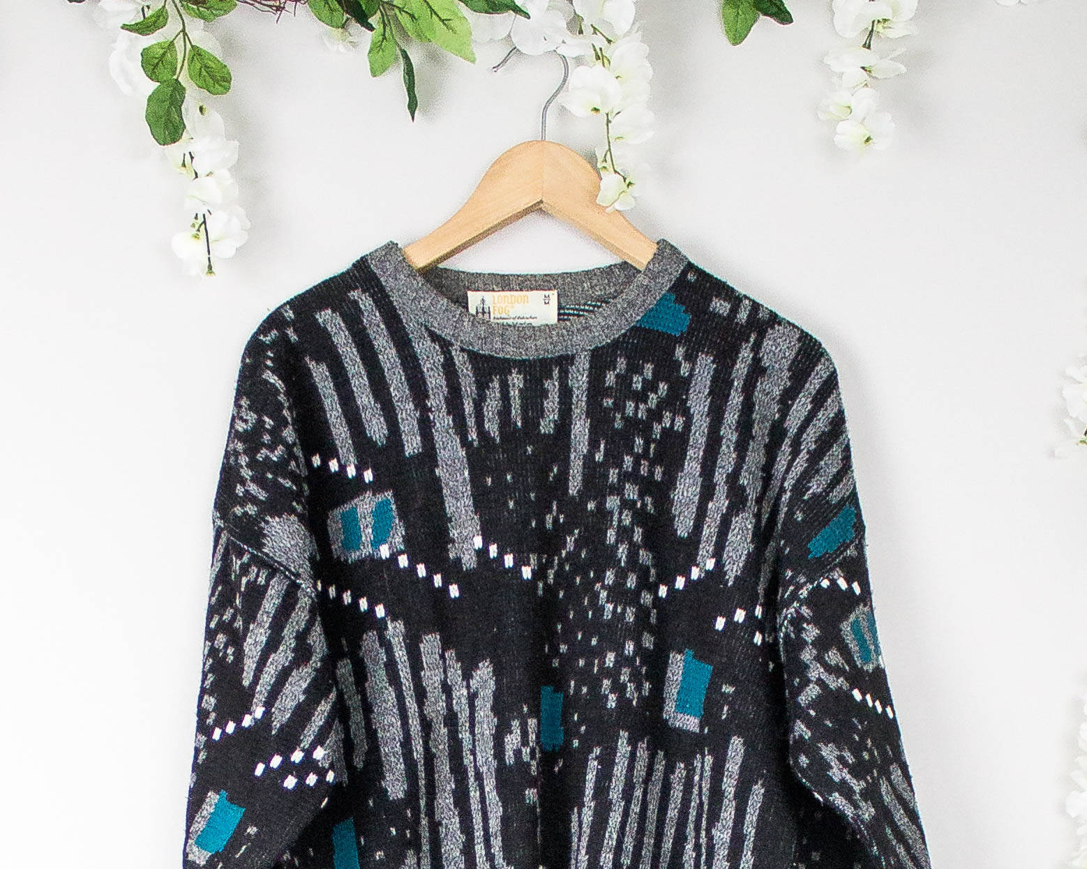 Vintage Marled Geometric Sweater