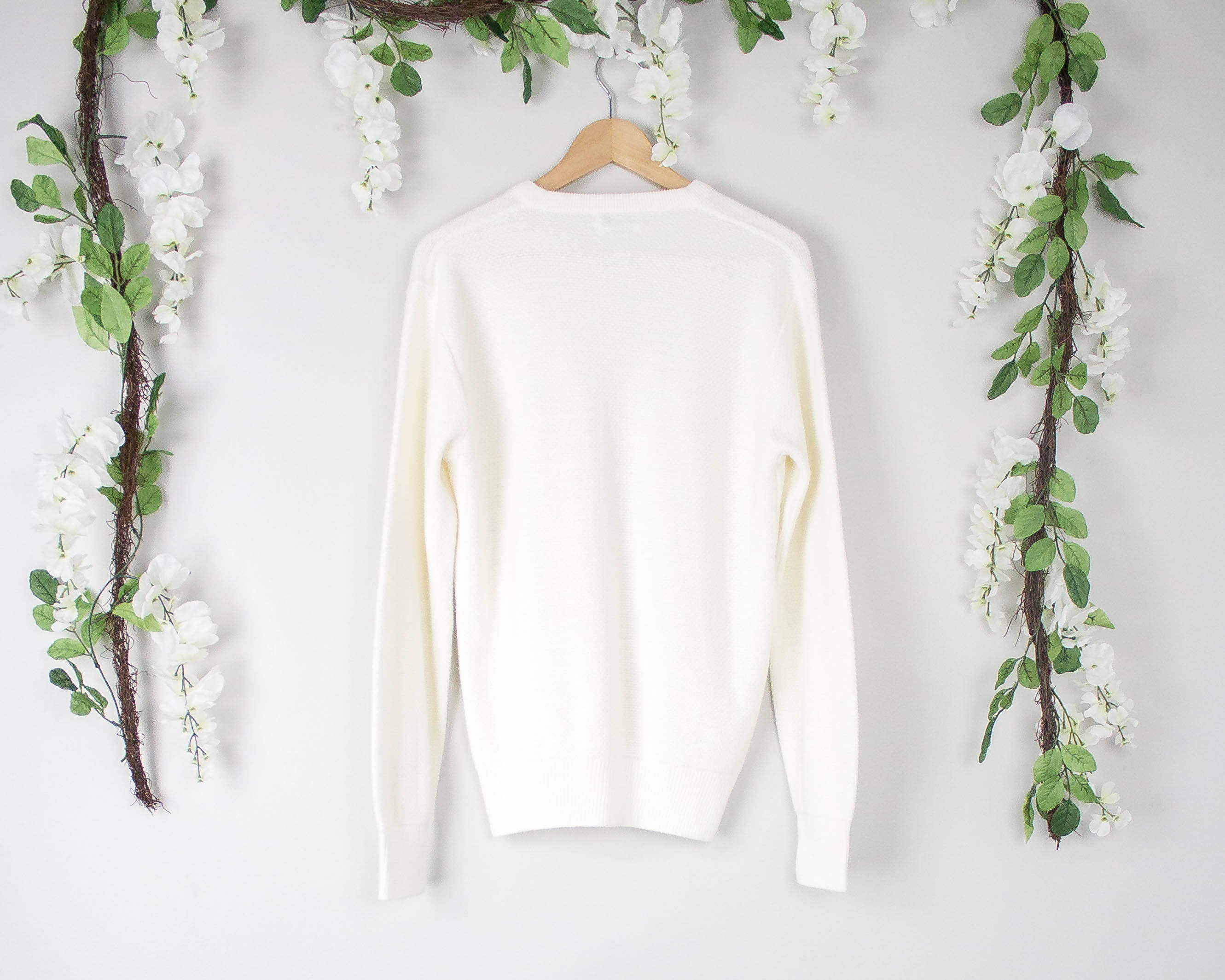 Vintage Christian Dior White Sweater