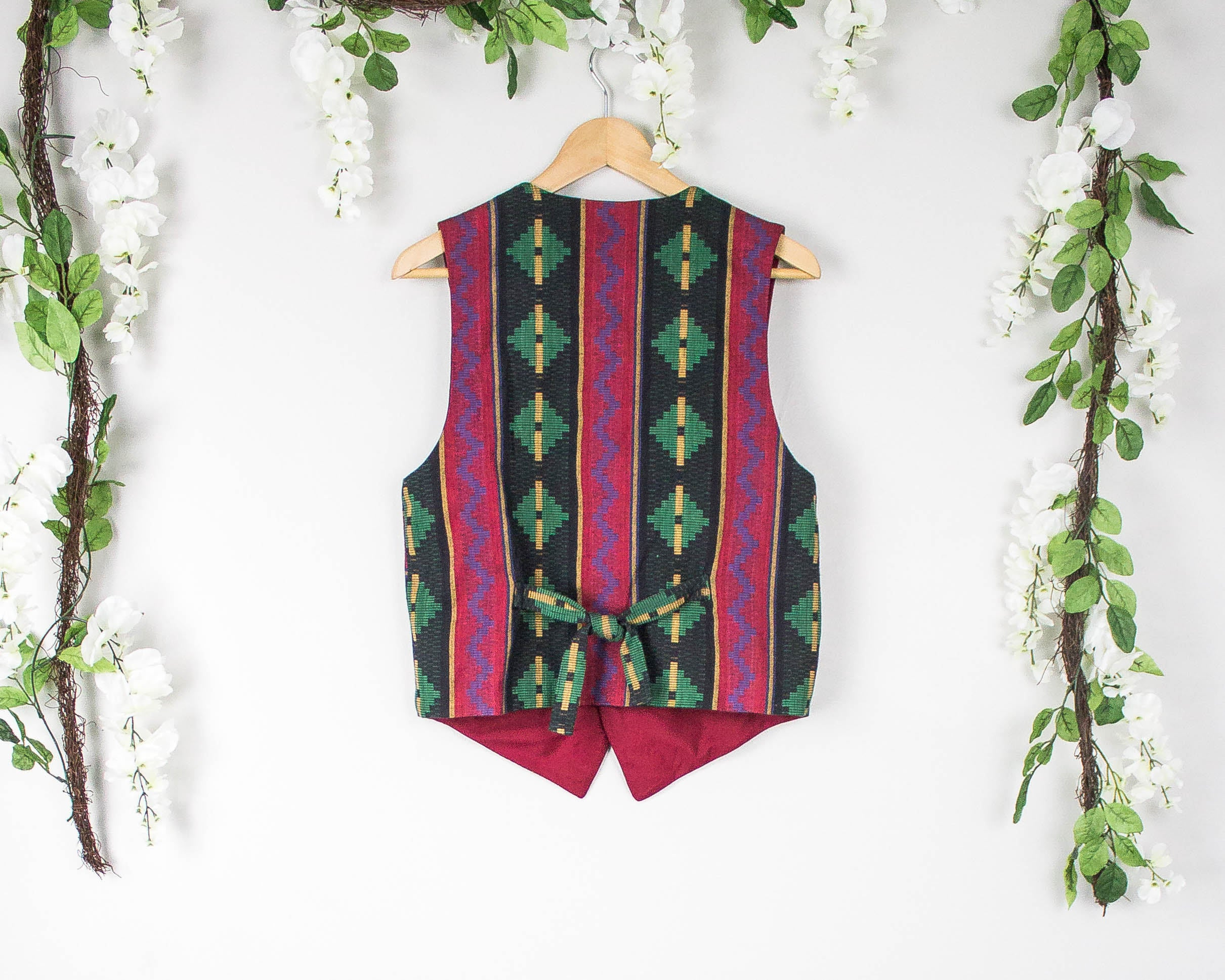 Vintage Aztec Colorful Vest
