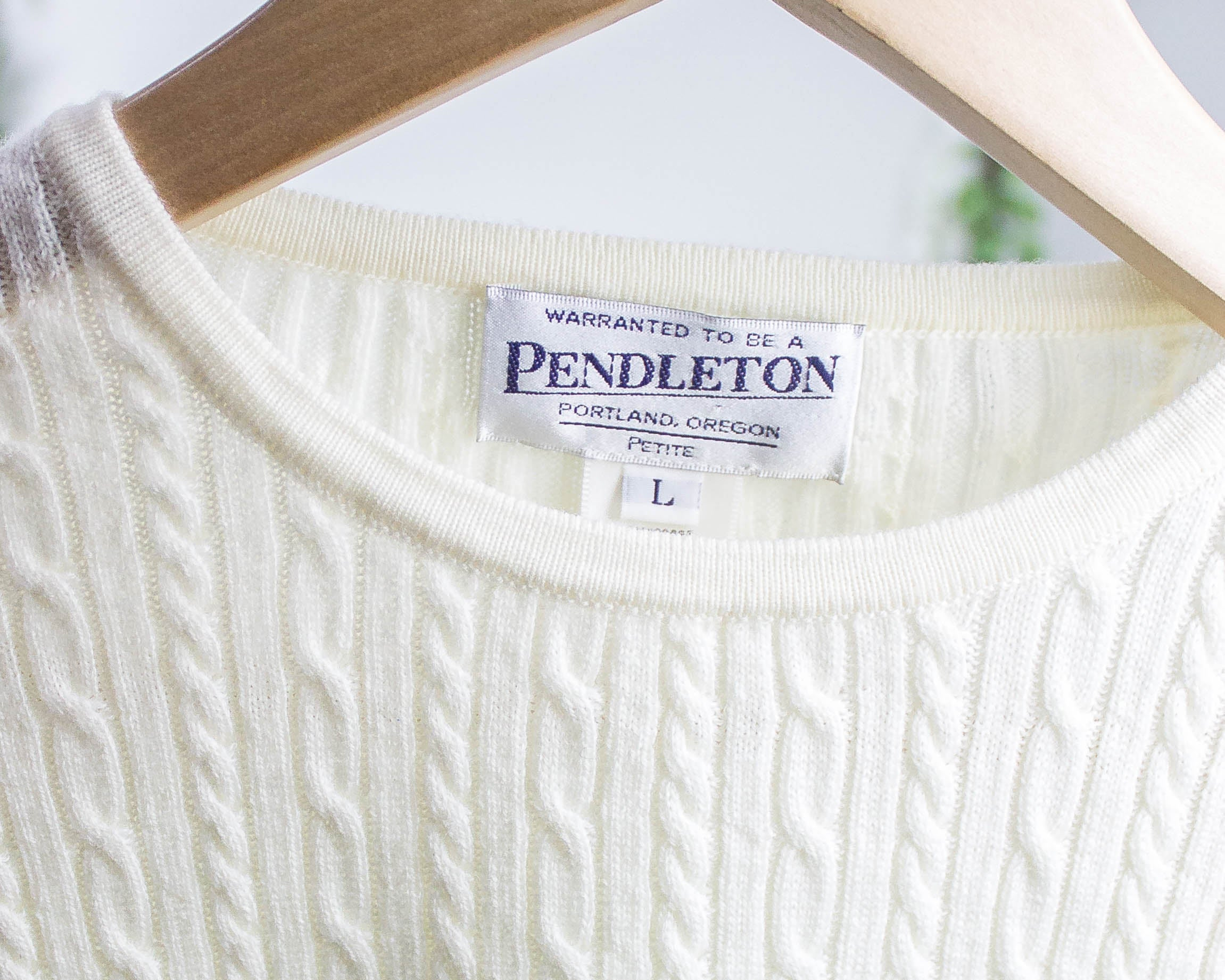Vintage Pendleton Cable Knit Sweater