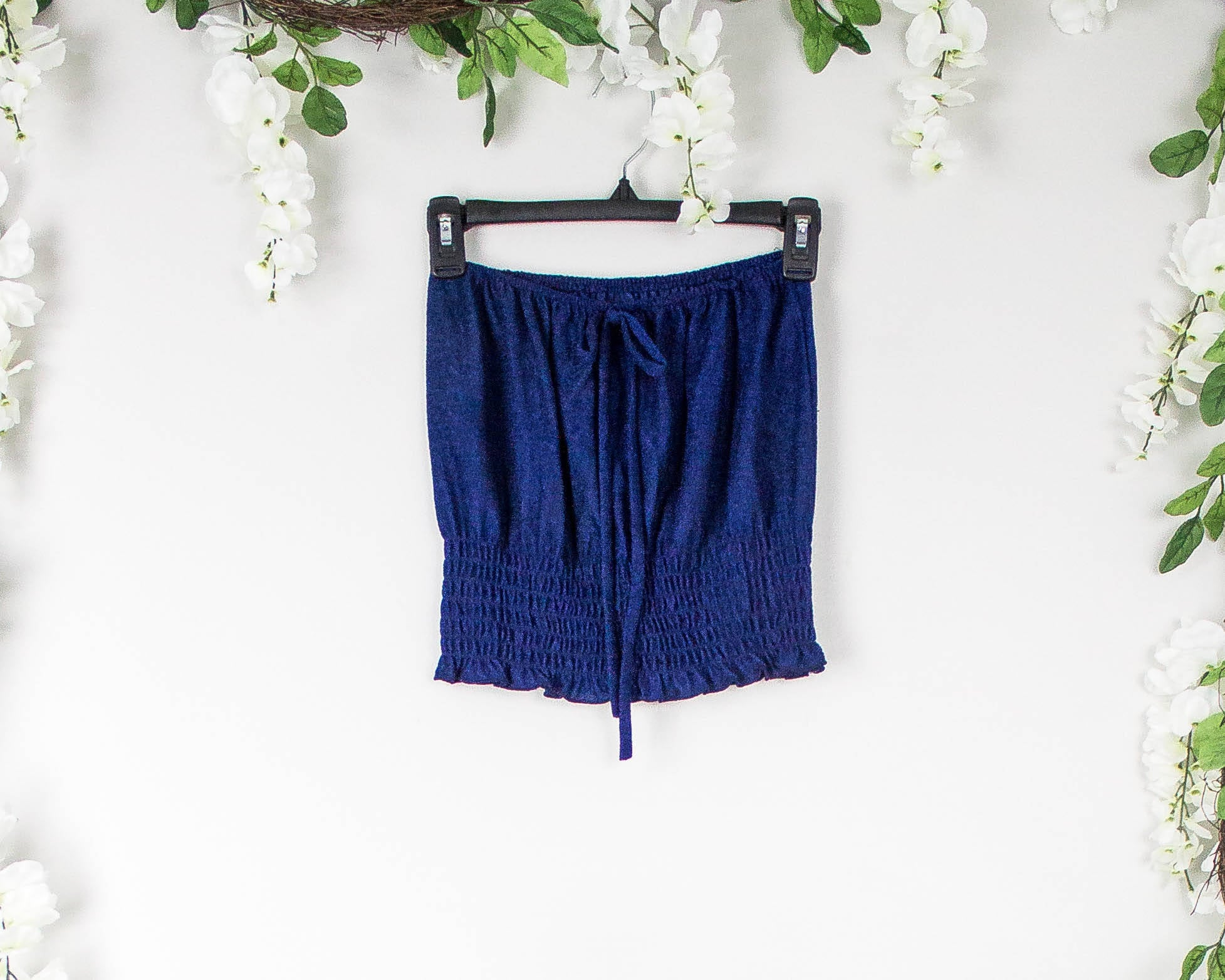 Vintage 70s Navy Tube Top