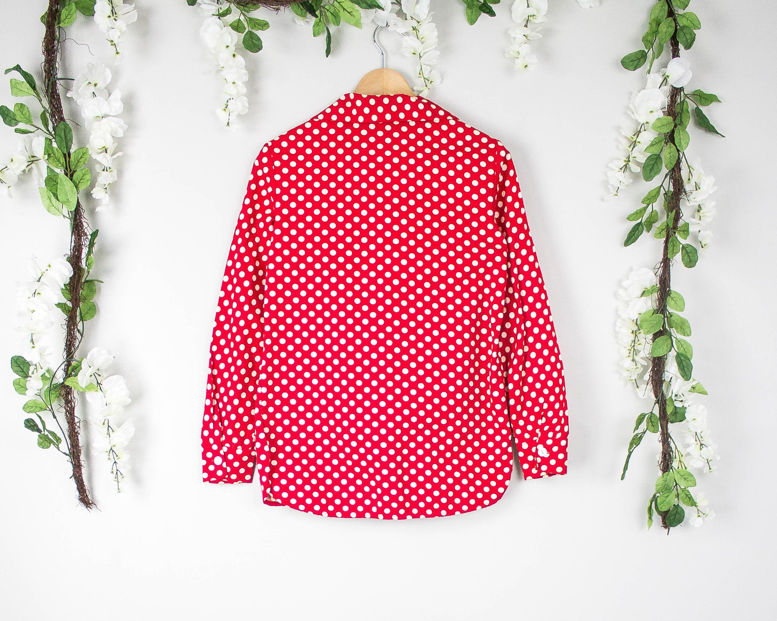 Vintage 60s Sears Red Polka Dot Blazer