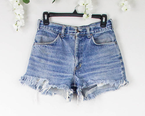 Vintage 28/29 Distressed Levis High Waisted Shorts