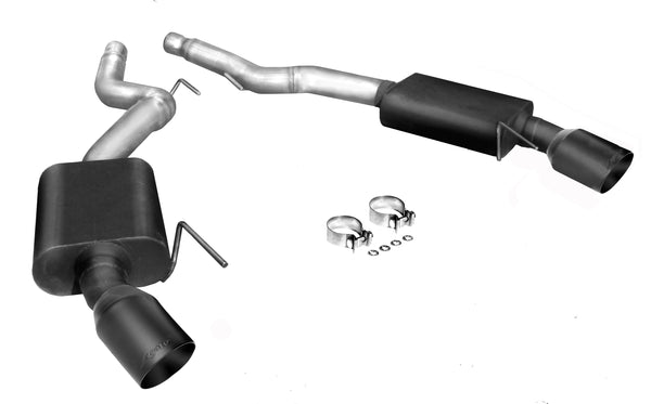 2015-'18 Ford Mustang GT V8 Legato Axle Back Exhaust - NEW! Satin Black Exhaust Tips