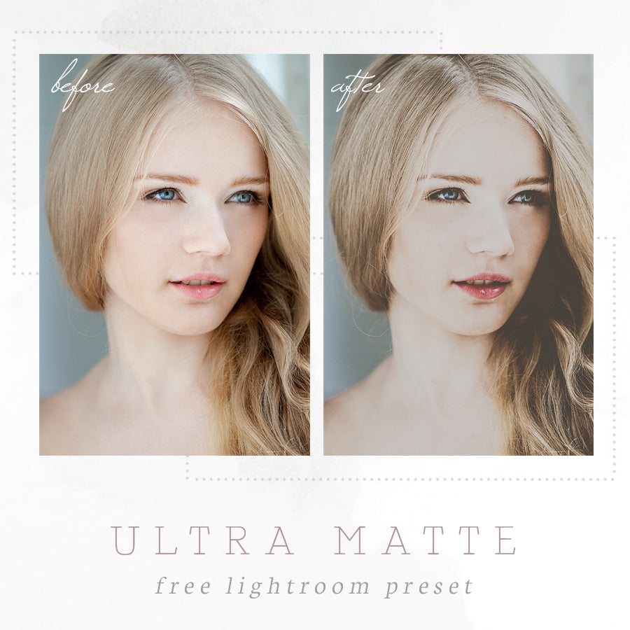 Ultra Matte Free Lightroom Preset