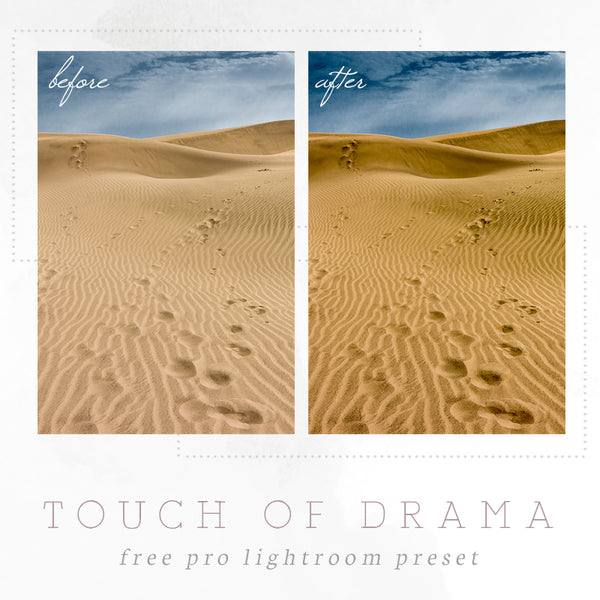 Touch of drama Lightroom preset