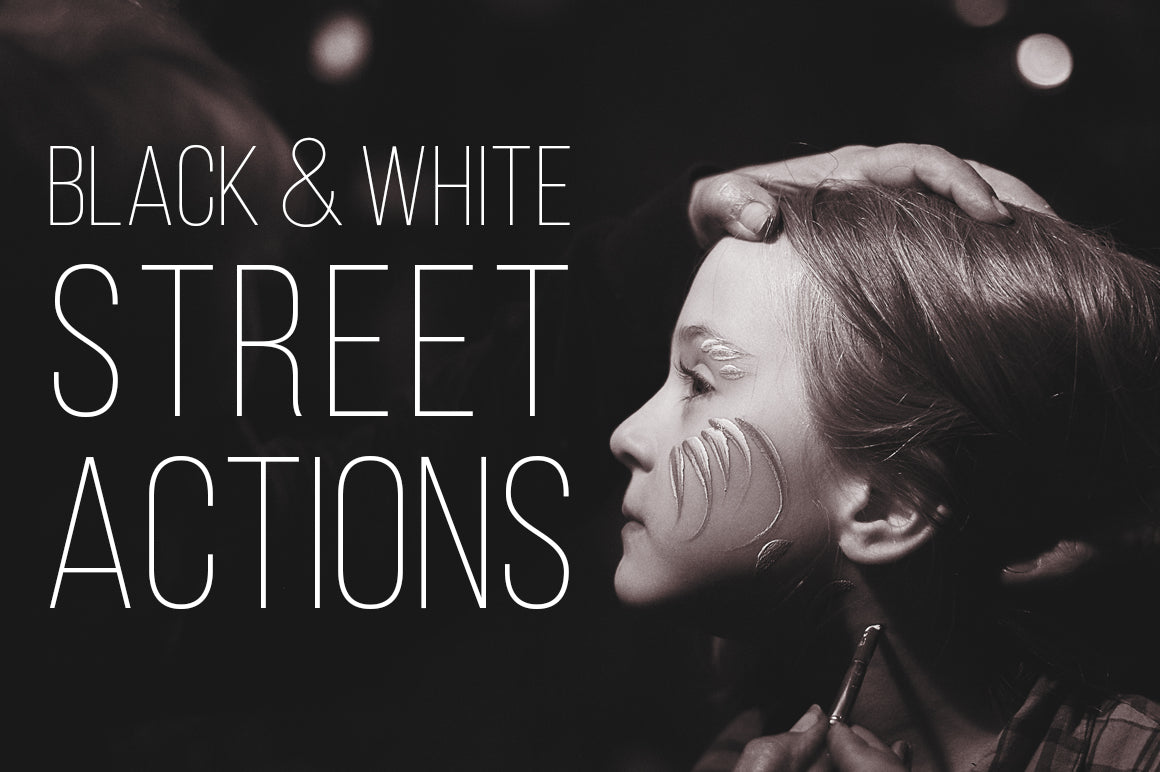 Monochrome Street photography actions