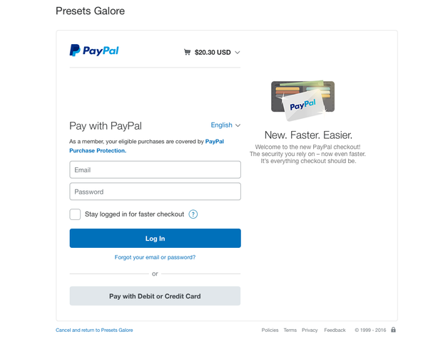 paypal pay with credit card