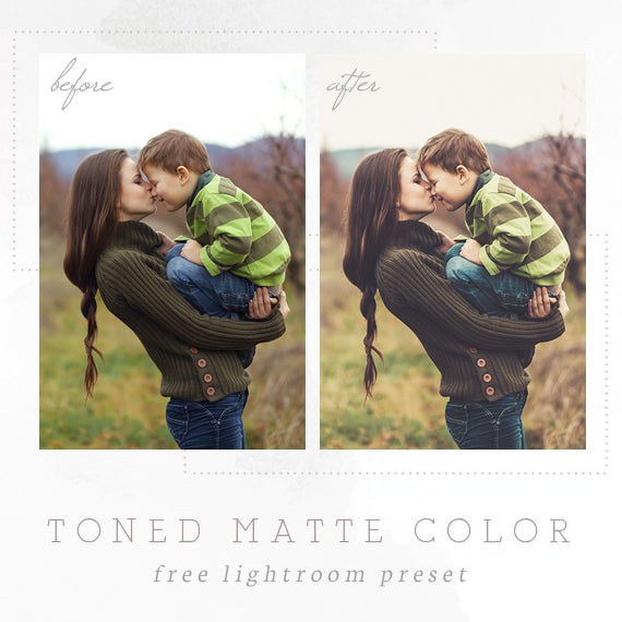 toned matte color lightroom preset