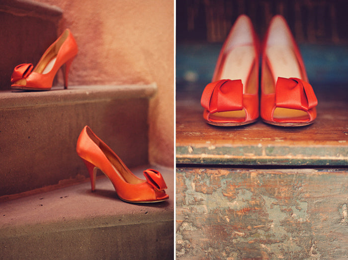 Shoes capture romance in photography.